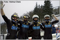 Andre-Lange-im--Ziel - Bobsled World Cup Winterberg