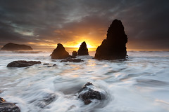 (maxxsmart) Tags: ocean california sunset seascape storm water clouds canon rocks lee marincounty marinheadlands seastacks rodeobeach 1740f4l gnd 5dmarkii