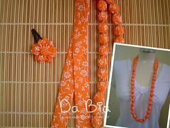 Coral (Da Bia) Tags: flores necklace flor artesanato boto fuxico vero colar tictac acessrio dabia biancasantana colaremtecido colaremtecidoecontas