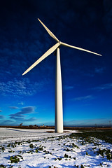 2 Winter windmills (WWW.KANEYOUNGPHOTOGRAPHY.COM) Tags: uk blue winter england sky snow mill windmill canon village wind mark cleveland north young east ii mk2 5d hart kane teesside 2009 turbine mkii hartlepool 5d2 5dii