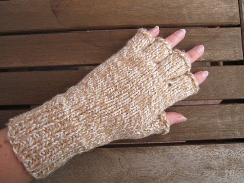 Mom's fingerless gloves
