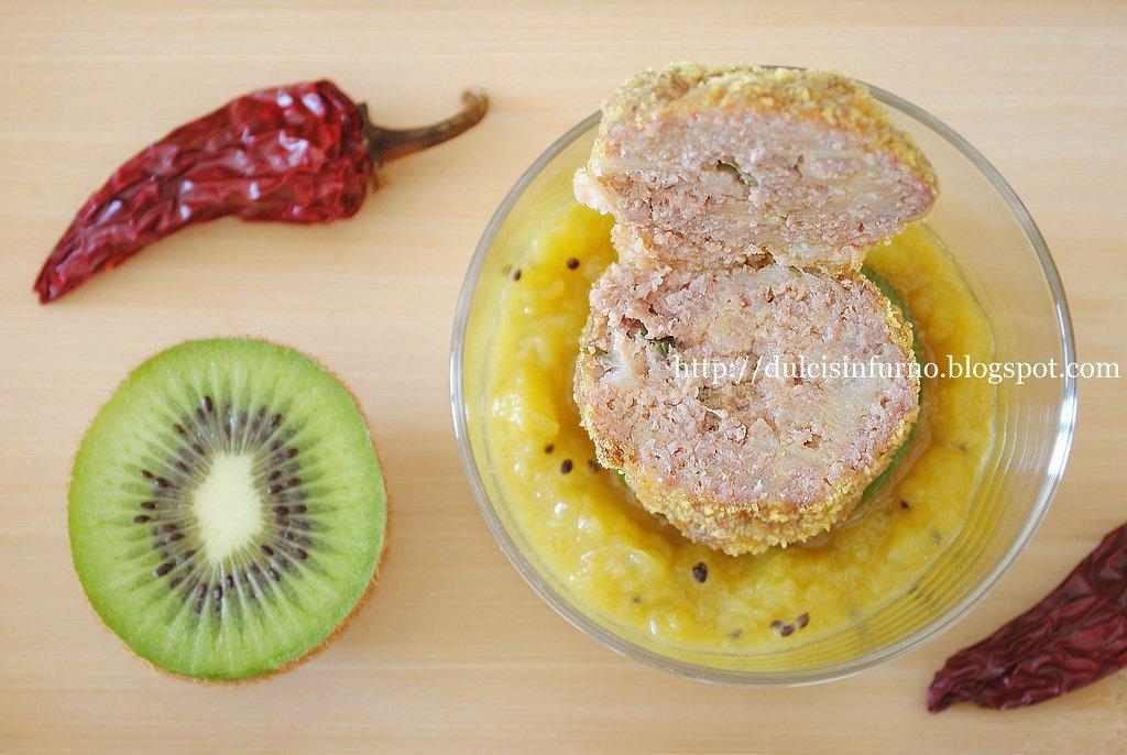 Polpette di Vitello con Salsa al Kiwi-Veal Meatballs with Kiwi Sauce