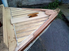 10ft Dinghy foredeck 4 (gondolier88) Tags: wood boat wooden oak traditional cleat mahogany dinghy grp planking iroko lugsail traditionaldinghy