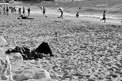 Happy Independence Day, Stranger (Noa Ka) Tags: life street city sea people bw men art beach out israel mar blackwhite telaviv nikon day different outsider candid strangers photojournalism ciudad stranger story event vida independence stories independenceday d90 nikond90