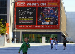 Brit Floyd & Batman Live (* RICHARD M (Over 5.5 million views)) Tags: street liverpool spring candid pinkfloyd entertainment batman april billboards advertisements adds albertdock merseyside showbiz kingswharf hoardings echoarena britfloyd batmanlive