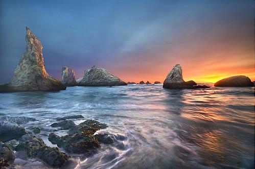 フリー写真素材, 自然・風景, 海, 夕日・夕焼け・日没, アメリカ合衆国,