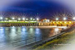 Lock and Dam #2 (tclaud2002) Tags: dam lock lockanddam night nighttime lights sparkle twinkle starburst river water southfork outdoors outside stuart florida usa st lucie vignette vignetted vignetting