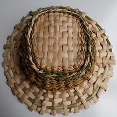 My very first #handwoven #hat! #cattail #tule/#bullrush #hatweaving #byhand #handmade #weaving #DIY #foundforaged #permaculture (Heath & the B.L.T. boys) Tags: hat diy instagram crafts permaculture