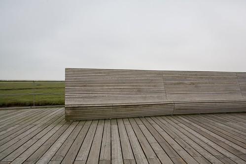 Sitzbank am Strand von Sankt Peter-Ording