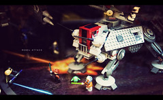 Rebel Attack (isayx3) Tags: 35mm toy toys rebel star nikon war dof bokeh battle legos f2 wars nikkor cinematic lightsabers d3 alliance plainjoe isayx3