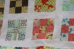 9 patch peeks (nichole.pyle) Tags: quilt top quilting 9patch quiltalong sashing