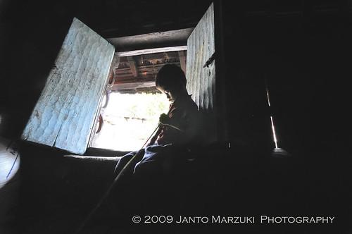 Didalam Rumah Adat Batak Karo, Brastagi Sumatera Utara