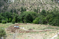 The ruins of the big village pueblo at Bandelier
