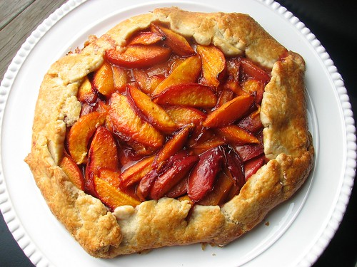 Nectarine and Amaretti Crostata