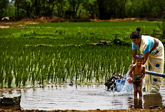 Happiness, that grand mistress of the ceremonies in the dance of life, impels us through all its mazes and meanderings, but leads none of us by the same route. (Dreamzzzz....) Tags: india water field kid washing andhrapradesh warangal kolanupaka