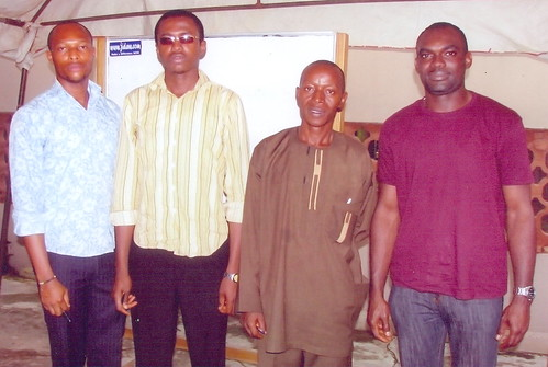Eyekosi Henry,Onyemelukwe Wisdom, Silas Anonde, Imonievoh Ejiroghene who attended the July 2009 Free IT Certification and Career Development Seminar. They came from outside Lagos, Nigeria