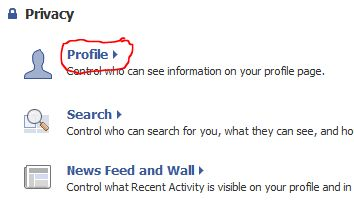 Facebook profile privacy