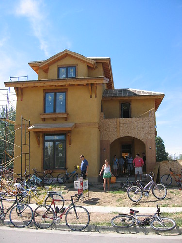 Tour de Green '07  Straw Bale Home