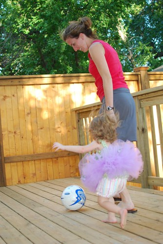 Coach Wilson shows HEW some of her sweet soccer skills.