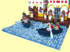 Soldier's Harbor (Erdbeereis1) Tags: water harbor lego fort pirates soldiers
