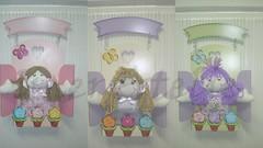 janelinhas enfeite porta ou maternidade (Imer atelie) Tags: 3 verde brasil minas rosa porta bebe quarto trio decorao nene pintura mdf maternidade lilas tecido uberaba enfeite bonecadepano bonequinha enxoval vasinhos janelinhas borboletinhas imeratelie decoraoquartobebe