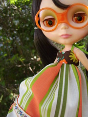 Juliana (Brentments) Tags: summer love beautiful wearing by vintage dark outdoors george outfit doll dress fierce gorgeous creation hippie kenner blythe chic brunette lovely juliana bangs fabulous bang 1972 2009 couture wispy maxi wisp mallory banged i of