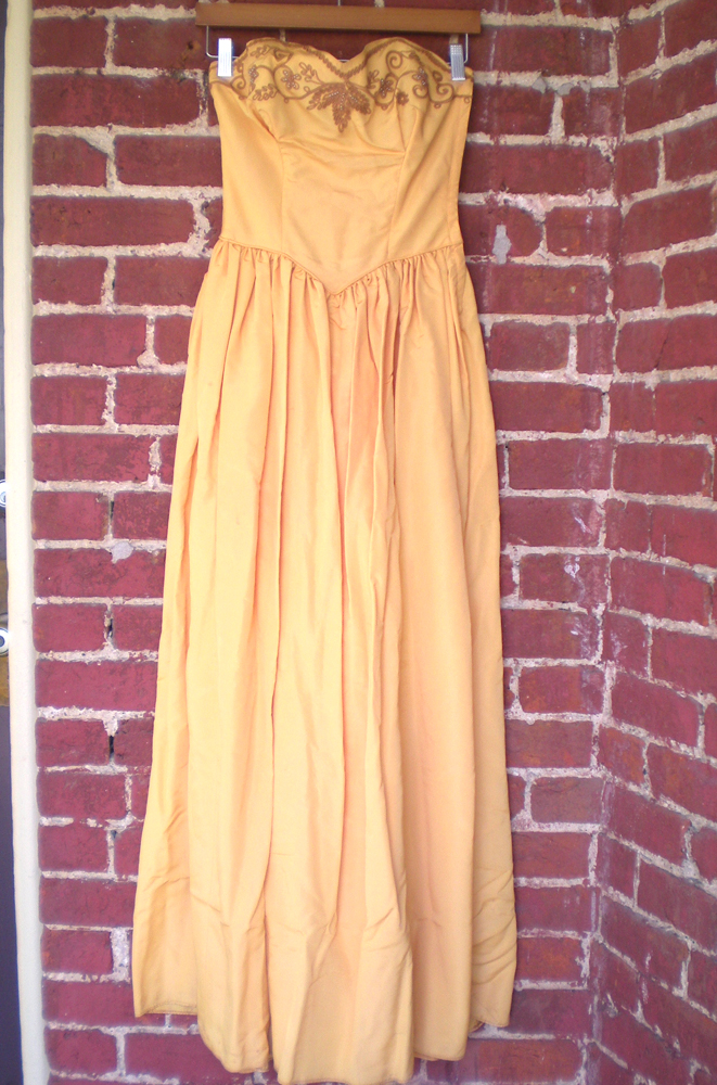 Ebay 40's Gown w/ Applique & Beading