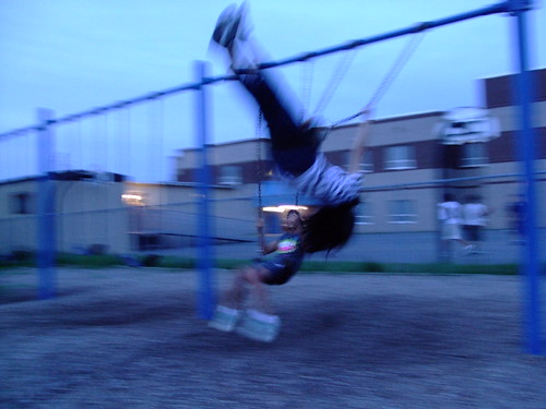 I am the acrobat of the swings.