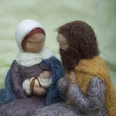 Needle Felted Nativity (haddy2dogs) Tags: felted waldorf needle etsy haddy2dogs