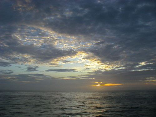 Sunrise from ferry