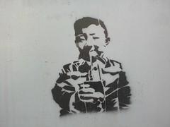 Baby chinese (Smeerch) Tags: china italy baby streetart stencils rome roma art italia babies arte chinese cina aerosolart cinese bambino artedistrada babychinese stencilinviadellamadonnadelriposo