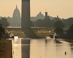 September Sunrise over DC 1 (Tony DeFilippo) Tags: nature washingtondc dc washington dcist washingtonmonument sunrisesunset capitoldome dcmonument nikon180f28 placesspecific