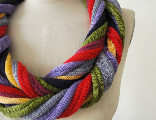 loop necklace scarves many colors