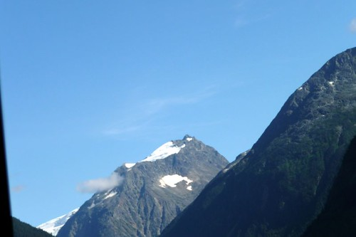 Mountain top with glacier