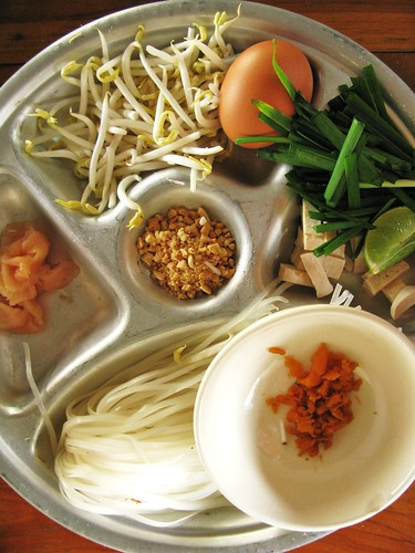 Pad thai ingredients at Grandma's Thai Recipes cooking class - Chiang Mai, Thailand