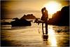 I don't care if tomorrow ever comes (Extra Medium) Tags: sunset reflection cute love beach silhouette engagement kiss couple explore engaged frontpage elmatador elmatadorstatebeach losangelesweddingphotographer jordanmegan malibuweddingphotographer