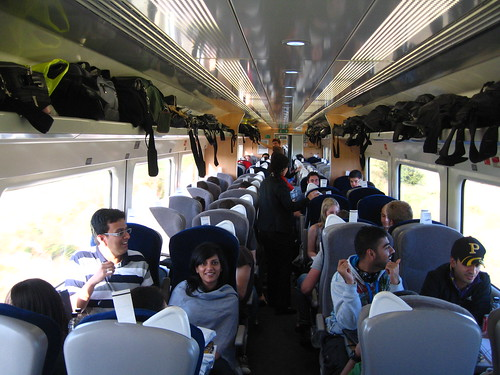 Private train carriages for large group travel