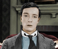 Buster Keaton in Sherlock Jr. (SilverRainbow87) Tags: color colour actor silentfilm colorization busterkeaton colourisation silentcomedy sherlockjr