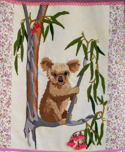 Koala Embroidery Details by you.