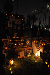 Dia De Los Muertos (jezzebel) Tags: november festival night dayofthedead mexico skull la cemetary ceremony mexican hollywood diadelosmuertos hollywoodforevercemetery alter skelaton hollywoodforever