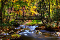 (Malcolm MacGregor) Tags: bridge color fall water river woods forrest tennessee fork east trail appalachian hampton laurel thechallengefactory