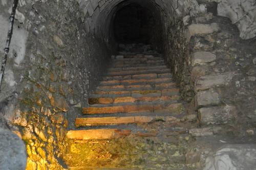 Escaleras de comunicación con la Abadía