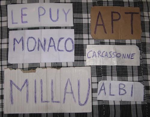 Placas de viagem à boleia em França