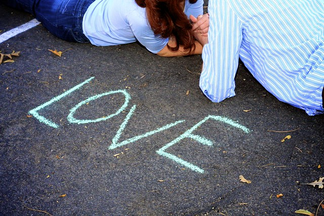 Love in Sidewalk Chalk