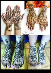 Henna (Art Fountain) Tags: floral collage drawings motiff handsandfeet indianart bridalhenna