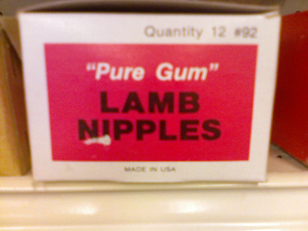 WTF products: lamb nipples