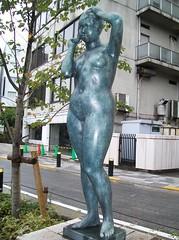 barefoot statue hairdo at Tokyo Chidorigafuji Park