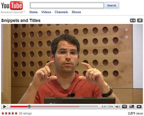 Matt Cutts video for Google Webmaster Central