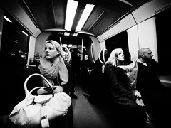 Stockholm subway (Ola Jacobsen) Tags: bw test woman subway lumix metro sweden stockholm panasonic tcentralen 714 gf1 714mm micro43 panasoniclumixgf1 lumixgvario714mmf4