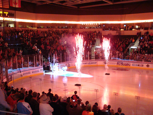 hockey fireworks